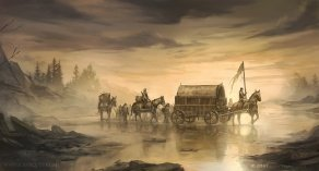 Crossing Mummer's Ford, © Fantasy Flight Games.  , jcbarquet