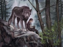 Arya and nymeria by vvjonez.jpg
