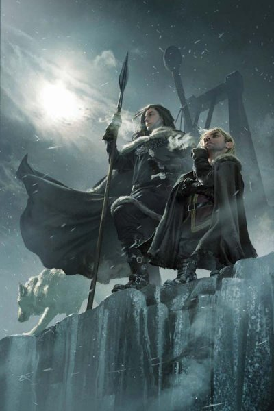 Файл:Jon and Tyrion on the Wall by Michael Komarck.jpg