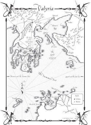 Карта Эссоса из Танца с драконами, 2455 x 3348 © Jeffrey L. Ward / Bantam