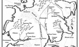 Север (карта из «Танца с драконами», пер. Н.И. Виленской, 2012 © Астрель)