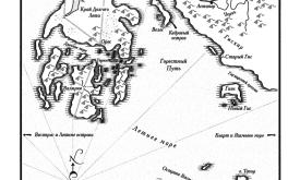 Валирия (карта из «Танца с драконами», пер. Н.И. Виленской, 2012 © Астрель)