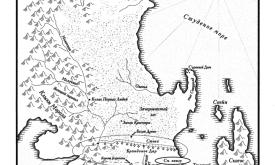 За Стеной (карта из «Танца с драконами», пер. Н.И. Виленской, 2012 © Астрель)