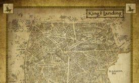 План Королевской Гавани из электронной книги Игра престолов, изд. Harper Collins Voyager
