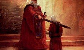 Эйгон IV посвящает Деймона в рыцари