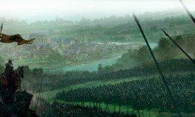 Штормовой Король Аррек наблюдает за битвой у Ярмарочного городка