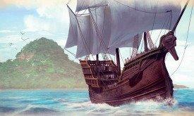 Корабль возле Летних островов