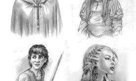 Портреты героев: Кейтилин, Санса, Арья, Дени