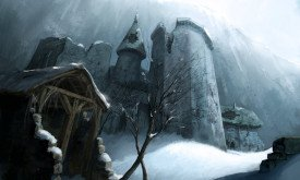 Один из замков на Стене