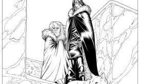 Тирион и Джон смотрят со Стены