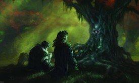 Джон Сноу дает клятву перед ликом Старых Богов
