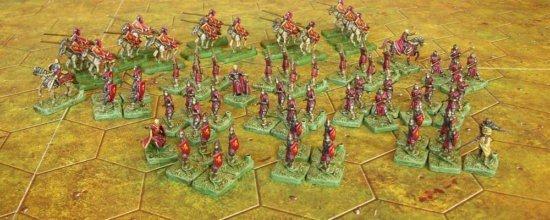 Раскрашенные фигурки пехотинцев Ланнистеров