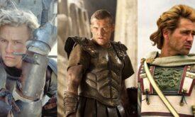 Костюмы Истории Рыцаря, Битвы Титанов и Александра (слева направо)