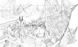 Рабы захватывают корабли и сбегают в Браавос