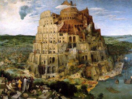 Питер Брейгель Старший. Вавилонская башня. Ей мы обязаны многообразием языков, если верить Библии