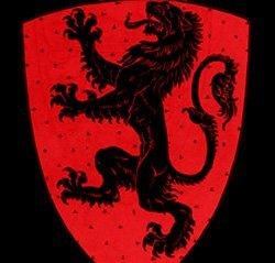 Типичное изображение герба со львом (дизайн Уолтер Крейн)