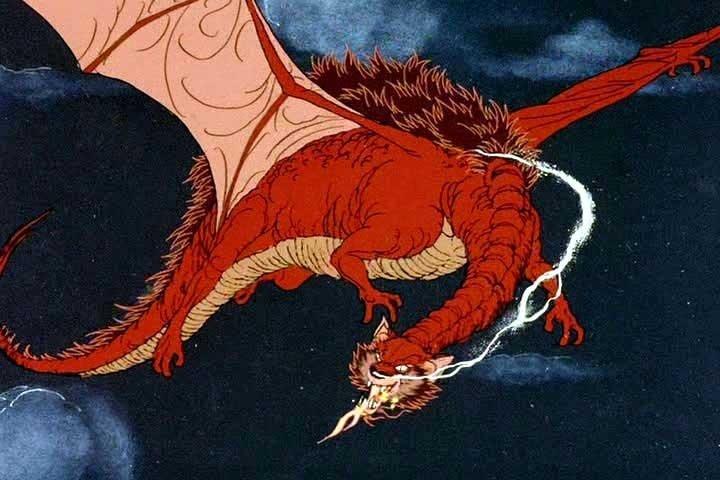 Смауг из мультфильма 1977 года