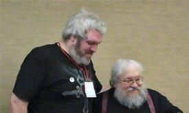 Кристиан Нэрн и Джордж Мартин на Октоконе 2010, фото (с) The_Rabbit01