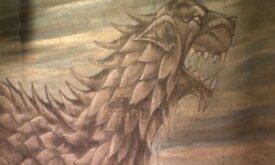 Лютоволк Старков (фреска?)