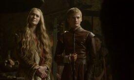 Королева Серсея и принц Джоффри на том же суде