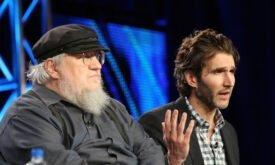 "Джордж Мартин и Дэвид Беньофф, TSA ""Game of Thrones"", пресс-тур в 2011 г."