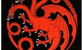 Первая версия герба Таргариенов. Шесть конечностей после исправили на четыре