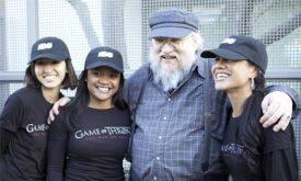 Джордж Мартин на рекламной компании Игры престолов