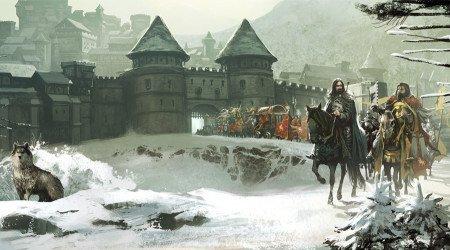 Эддард Старк живет далеко на севере, в родовом гнезде — замке Винтерфелл