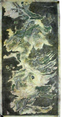 Карта Вестероса без подписей