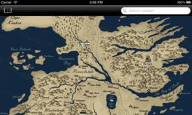 Карта Вестероса (цветной режм)