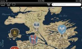 Карта с нанесенными гербами