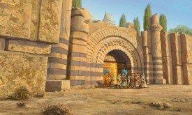 Ворота Кварта и роспись на стенах