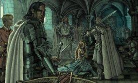Джоффри приказывает унизить Сансу (Битва королей)