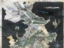 Карта Вестероса с подписями