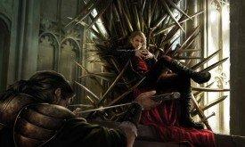 Джоффри принимает присягу на верность, сидя на Железном Троне