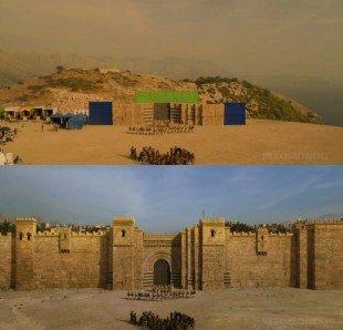 Кадры процесса съемок и обработки: стены Кварта