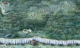 Кусочек карты земель за Стеной из «Земель Льда и Пламени»