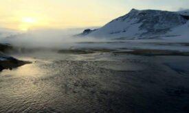съемки у фьорда (Исландия)