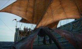 Дрогон пролетает мимо корабля
