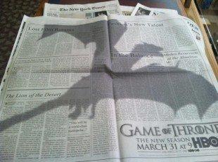 New York Times и реклама третьего сезона Игры престолов