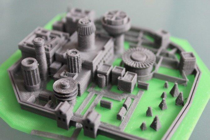 Винтерфелл, напечатанный на 3D принтере