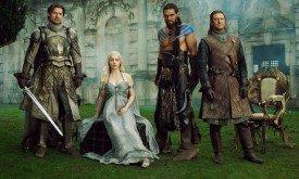 Джейме, Дени, Дрого и Нед (EW 2011, статья «Sex, secrets, swords») — 1-ый сезон