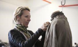Мишель Клэптон с костюмом Арьи Старк