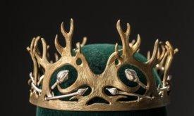 Корона Джоффри с цветами и рогами