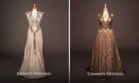 Свадебные платья Маргери (слева с Джоффри, справа с Томменом)