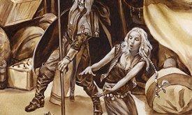 Аристан спасает Дейнерис от мантикора