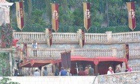 Отель Бельведер в Дубровнике. Судя по размеру меча, снимают поединок… кое-кого.
