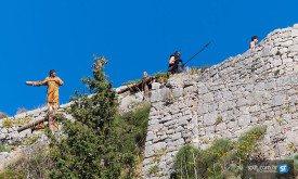 Съемки в Клисе  (сентябрь 2013, Хорватия), привязанные рабы