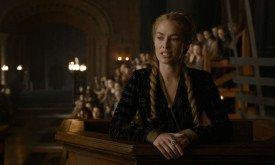 Серсея в скорби дает показания на суде, цитируя обещания Тириона