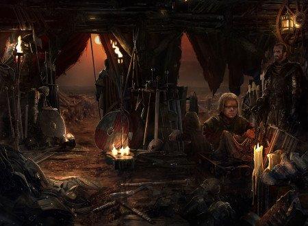 Тирион в лагере Младших Сыновей, обложка французского издания Танца с драконами
